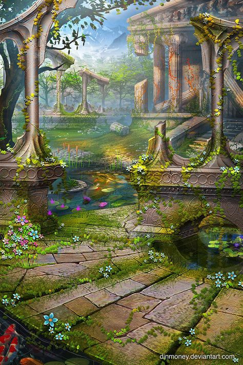 Temple Garden by dinmoney on DeviantArt