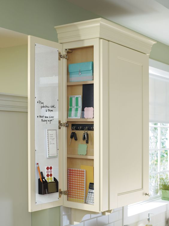 Hidden storage searching and ink on pinterest for Hidden kitchen storage ideas
