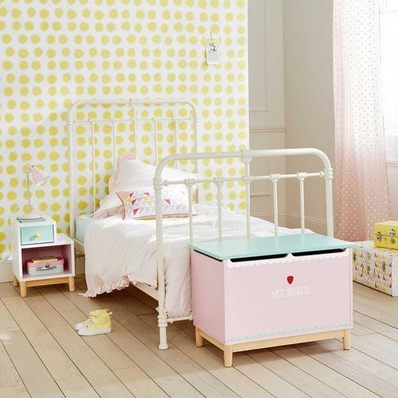 Cassapanca per giocattoli bambino rosa Berlingot