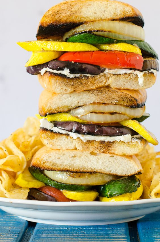 Grilled Vegetable Sandwich for #MeatlessMondays. Ciabatta ...