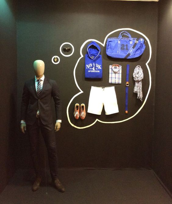 "Artidi Escuela Superior, group G students del Master de Escaparatismo y Visual Merchandising, ""I love dreaming about the summer"", pinned by Ton van der Veer:"