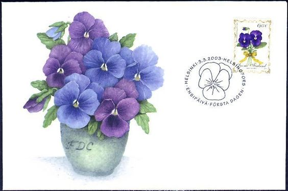 Easter Violet Violaceae Potted Plant Finland FDC 2003