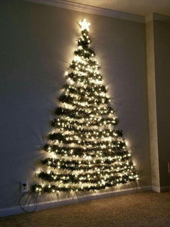 Christmas Arbol De Navidad Pared Ideas Para Arboles De Navidad árbol De Navidad Con Luces