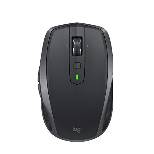 Logitech MX Master 2S Multi-Device Bluetooth Wireless Mouse with USB Unifying Receiver and Rechargeable Battery for Mac and Windows Graphite