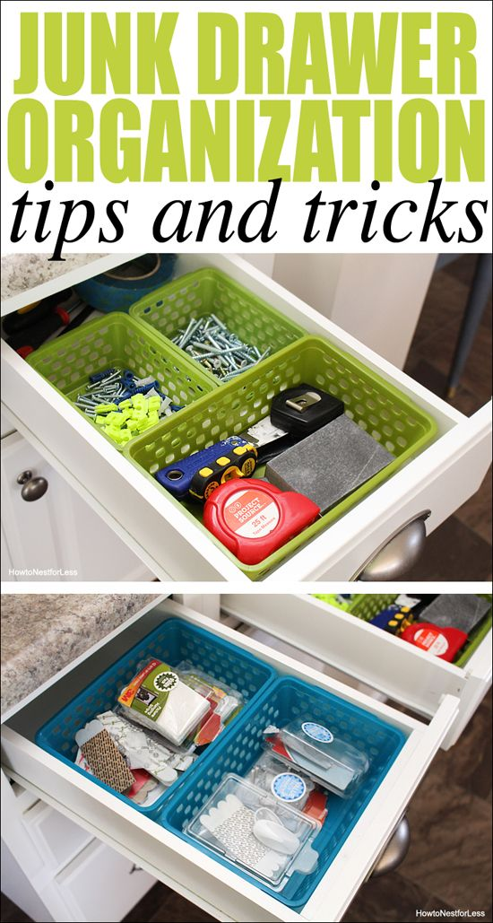 Junk Drawer Organization How To Nest For Less Junk Drawer Organizing Organization Hacks Drawer Organizers