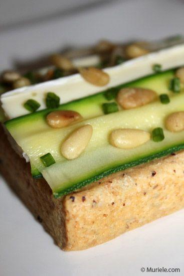 Tartelette Courgette/Brie/Poire   Les gourmandises de Muriele