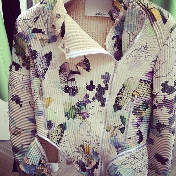 Printed motorcycle jacket // 3.1 Phillip Lim Resort 2013