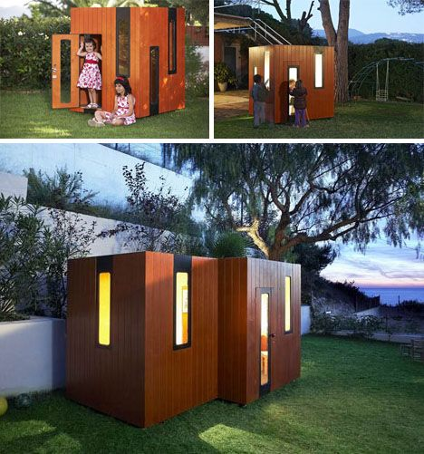 Big cardboard boxes outdoor playhouses and minimalist for Big kid playhouse