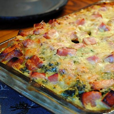 Ham and Swiss Breakfast Casserole