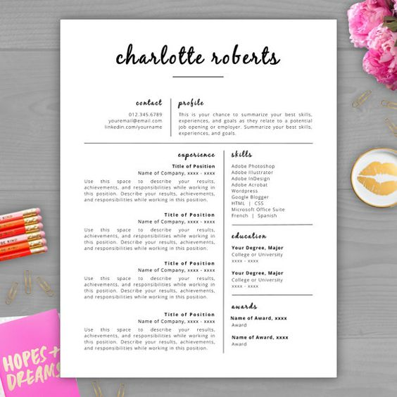 Free Resume Templates  Template Free And College