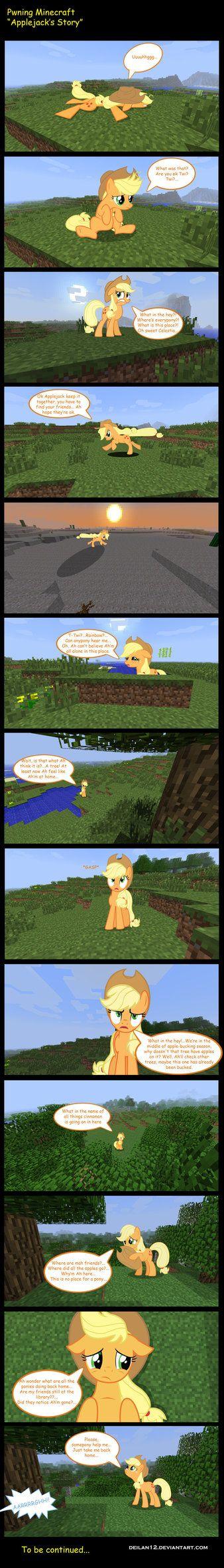 Applejack In Minecraft by deilan12 on deviantART
