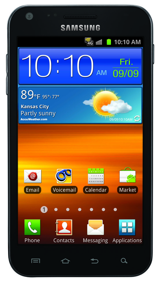 Samsung Galaxy S II with Android
