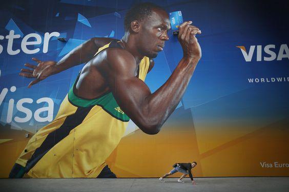 Bolt & Visa !  #London2012 #OlympicGames #Olimpiadi