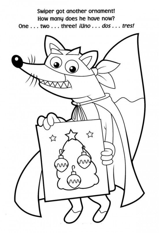 Free Printable Dora Christmas Coloring Pages Picture 33 550x806 Picture