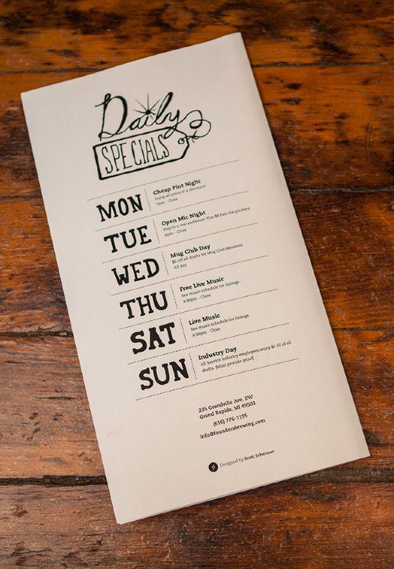 creative, design, Designs, Inspiration, menu, Restaurant, print - sample cafe menu template