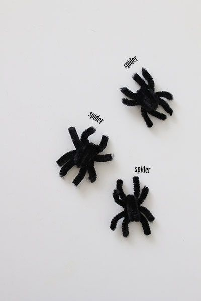 モールで簡単 ハロウィンの蜘蛛を手作りで 画像あり