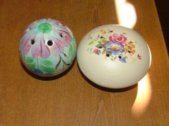 Vintage pomander/pot pourri 2 pretty -1 Axe Vale- fill lavender? gifts? home? in…