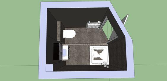 Badkamer Schuine Wand : Badkamer met schuine wand