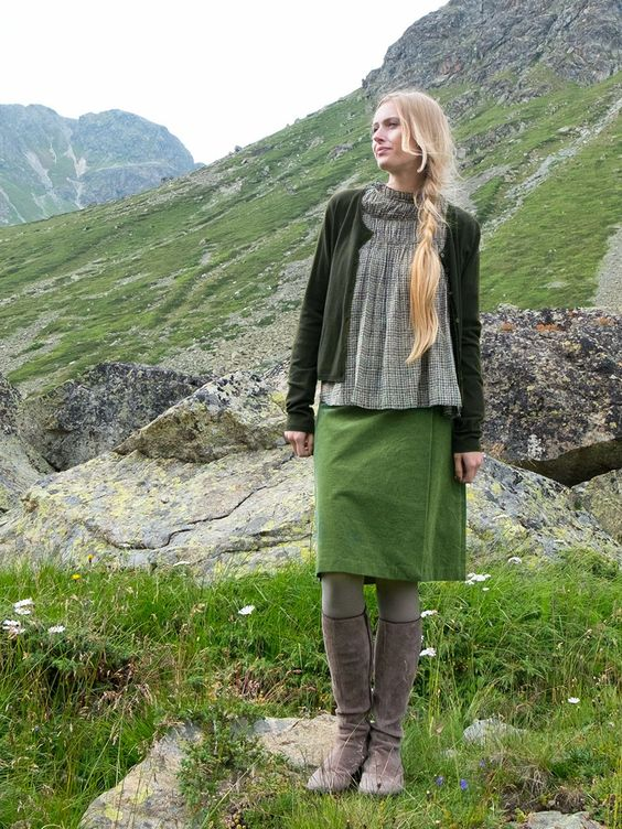 "#Cord #Rock #Skirt by Brigitte von Boch ""McKearn"" #bevonboch"
