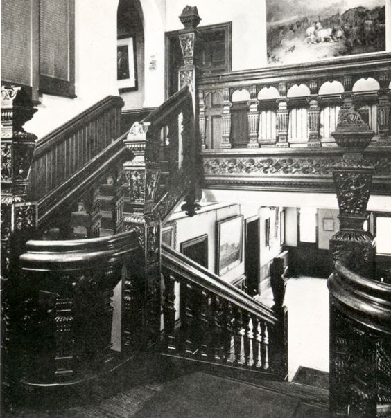 The Jacobean staircase from Sir Walter Covert's mansion Slaugham Place near Haywards Heath was sold and relocated to Lewes old town hall c1895 - formerly the Star Hotel - where it still is today.  'Thomas Sergison of Cuckfield, challenged the Whig Duke of Newcastle's political control of Lewes Borough. He made the Star, and the coffee-house, his campaign head-quarters, and from a dismantled mansion of his, Slaugham Place, he brought the Renaissance staircase, dating from about 1600'