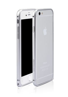 iPhone bumper in silver! Available for iPhone 6 and iPhone 6 plus