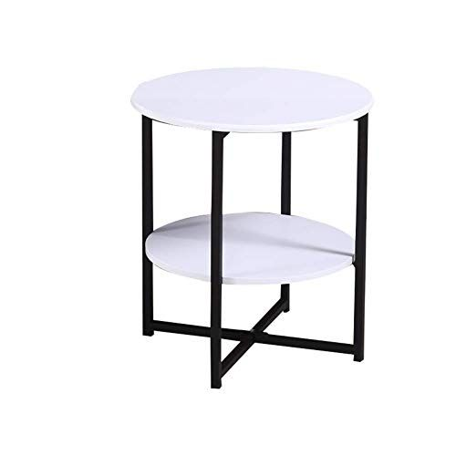 Irving Bedside Table Round Metal Side Table Modern Wood Patio