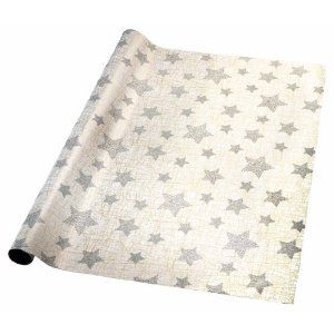 Sigel 2m x 70cm Filaments Exclusive Christmas Gift Wrap with Gold Print and Glitter