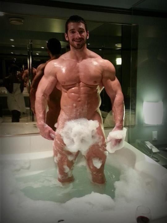 man bubble bath Naked