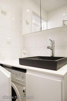 hidden washing machine piilotettu pyykinpesukone. Black Bedroom Furniture Sets. Home Design Ideas