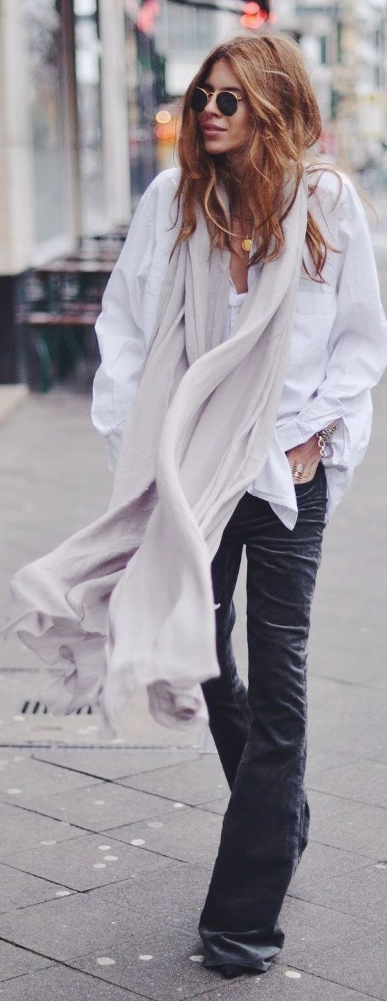 Make a scarf like this out of white netting Fabric