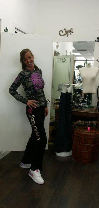 Model Monday sporting Juicy t-shirt and pants at Sisters