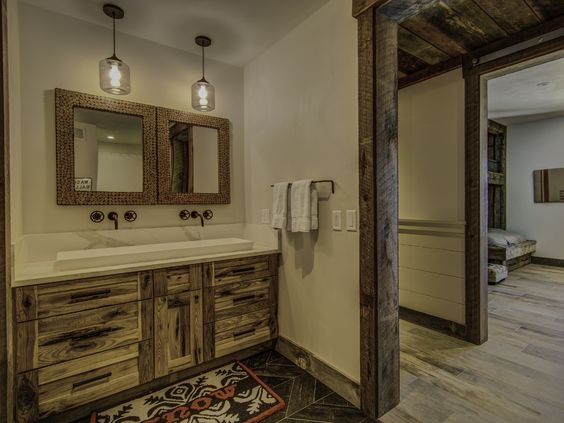 Boys bathroom in Southern Vermont home.  #vermontinteriordesign  #vermontbathroomdesign