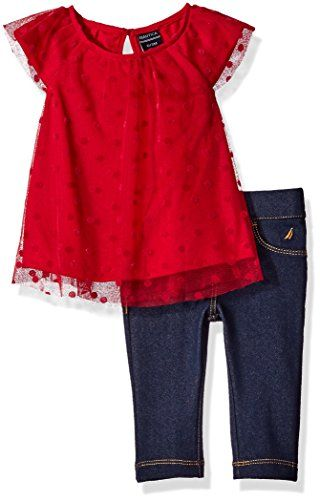 Nautica Baby Woven Top and Legging Set, Berry, 6 Months N... http://a.co/0SrbI9u