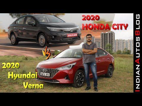 2020 Hyundai Verna 1 5l Petrol At Hindi Review Compared With New Honda City Youtube In 2020 Honda City New Honda Hyundai