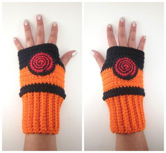 Amigurumi Naruto Pattern : Original Naruto Inspired Shippuden Geeky Gauntlets. Wrist ...