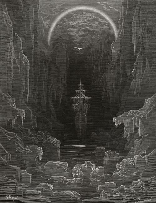 The Ice was All Around - from The Rime of the Ancient Mariner - by Gustave Dore (Jonnard, engraver)