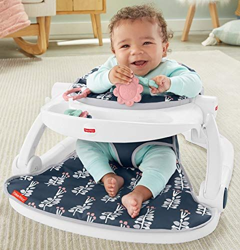 Fisher Price Sit Me Up Floor Seat With Tray Navy Garden Infant
