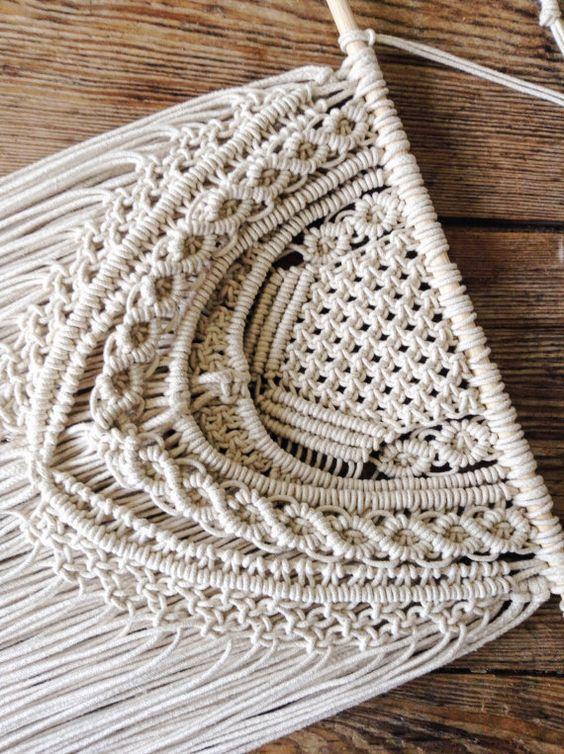 Crocheting Vs Macrame : Colgante Macrame Macrame decoracion de la pared por MaisyandAlice