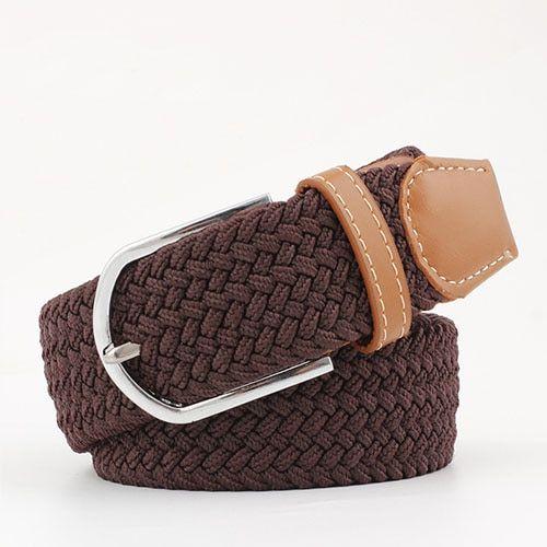 Canvas Belts For Women Casual Belts With Plastic Buckle Plain Long Belts Fashion