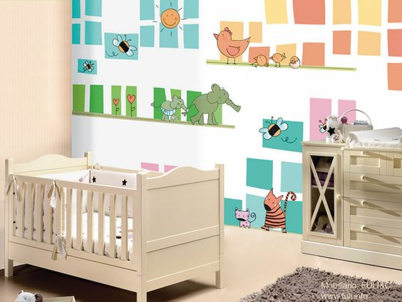 Bebe on pinterest for Cuartos decorados para bebes