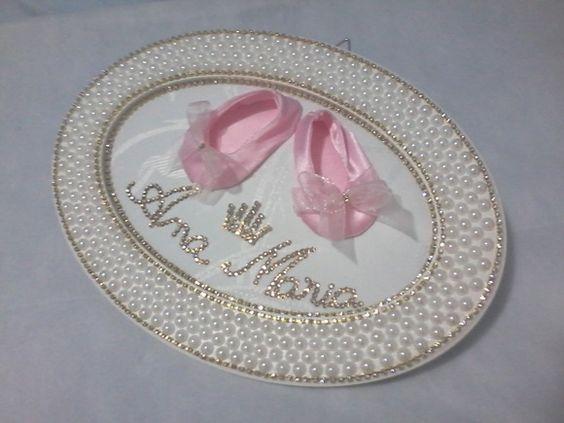 Armario Planejado Banheiro ~ Enfeite de matonidade com sapatilha Produto sofisticado para completar a decoraç u00e3o do quarto da