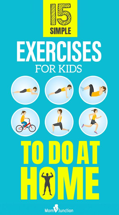 15 Simple Exercises For Kids To Do At Home Exercise For Kids Mom Junction Easy Workouts
