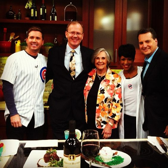 Harry Caray's Restaurant Group Owner, Grant DePorter and the First Lady of Chicago Baseball, Dutchie Caray on Windy City Live this morning to celebrate Cubs Opening Day!