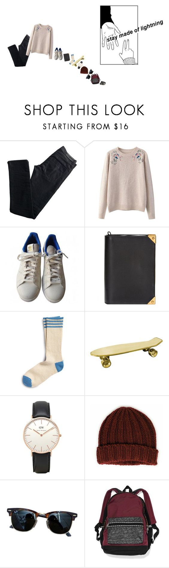 """""""Untitled #1443"""" by my-artsy-soul ❤ liked on Polyvore featuring Karl Lagerfeld, Chicnova Fashion, adidas, Alexander Wang, Sperry, Seletti, Daniel Wellington, Wigwam, Ray-Ban and Victoria's Secret"""