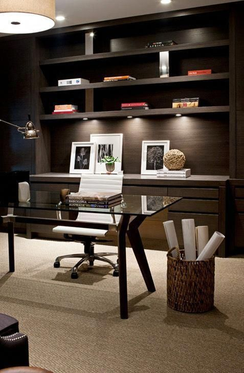 Small Office Space Design Home Office In Living Room Ideas Office Den Decorating Ideas 201906 Modern Office Decor Home Office Design Office Interior Design #small #office #in #living #room
