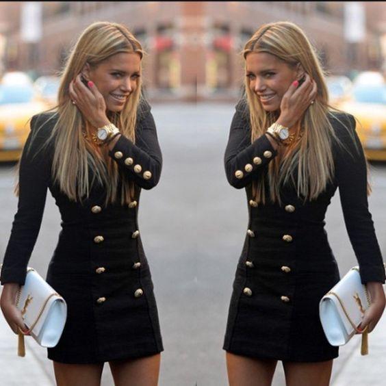 Robe vente coton Polyester gaine automne hiver robe bureau crayon 2015 nouvelle mode Casual manches longues femmes robes C307 dans Robes de Accessoires et vêtements pour femmes sur AliExpress.com | Alibaba Group
