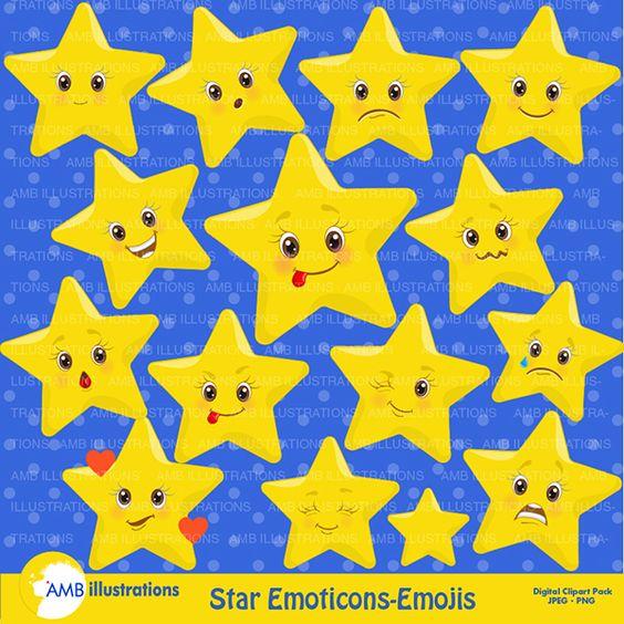 Star Emojis Emoticons Clipart Cliparts Star Emojis Emoticons Clipart Clip Art Emoji Clipart Star Emoji