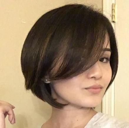 short hairstyles for round faces with double chin