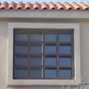 Reja de hierro para ventana a cuadros grandes | Ideas for ... - photo#30