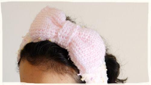 かぎ編み リボンのヘアバンドの編み方の作り方 編み物 編み物 手芸